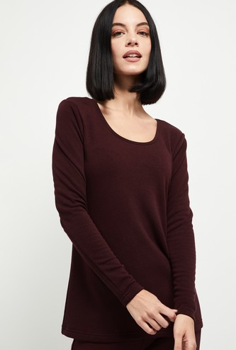 MAX Solid Round Neck Lounge T-shirt