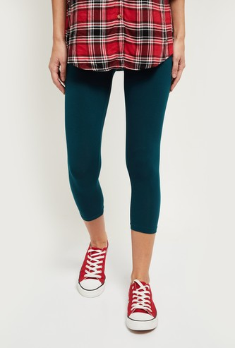 MAX Solid Elasticated Cropped Leggings