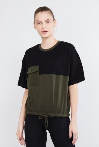 MAX Colourblock Drop-Shoulder T-shirt