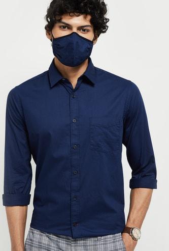 MAX Textured Antiviral Matching Mask Shirt - Slim Fit