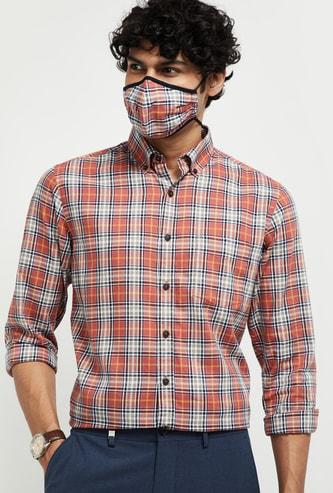 MAX Checked Antiviral Matching Mask Shirt - Slim Fit