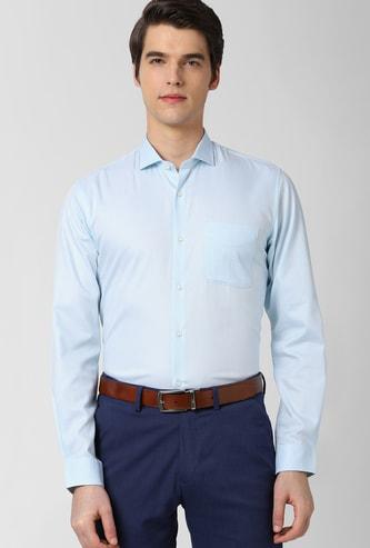 PETER ENGLAND Solid Full Sleeves Slim Fit Formal Shirt