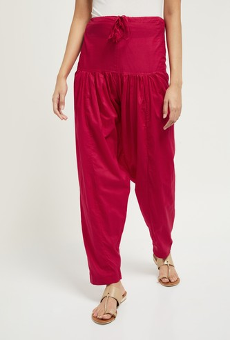 MAX Solid High-Rise Patiala Pants