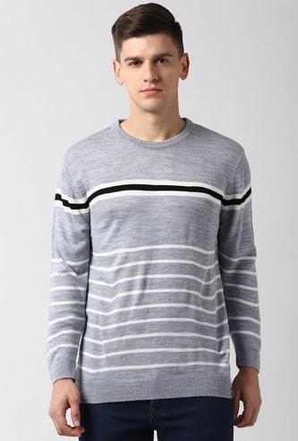 PETER ENGLAND Striped Crew Neck Sweater