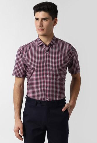 PETER ENGLAND Checked Short Sleeves Formal Shirt