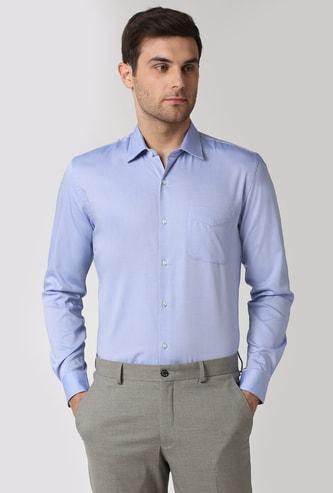 PETER ENGLAND Solid Slim Fit Formal Shirt