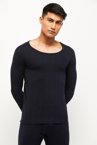 MAX Textured Crew Neck Thermal T-shirt