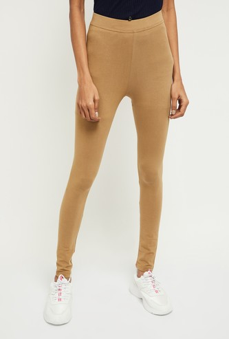 MAX Solid Ankle-Length Leggings