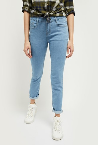 MAX Stonewashed Pencil Fit Jeans - Eco Wash