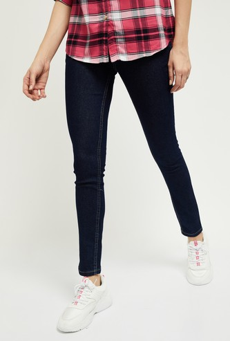 MAX Solid Skinny Ankle-Length Jeans - Eco Wash