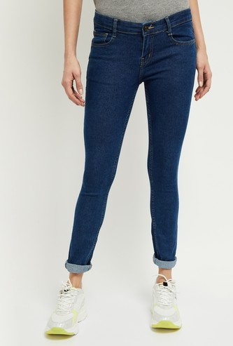 MAX Solid Skinny Fit Jeans