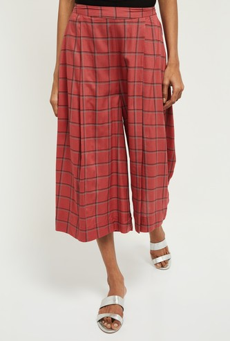 MAX Checked Elasticated Culottes