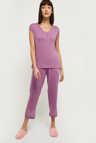 MAX Solid Lounge T-shirt with Pyjama