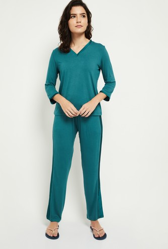 MAX Solid Lounge T-shirt with Pyjamas