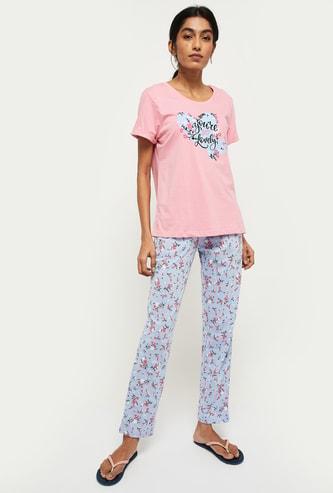 MAX Printed Lounge T-shirt with Pyjama Pants