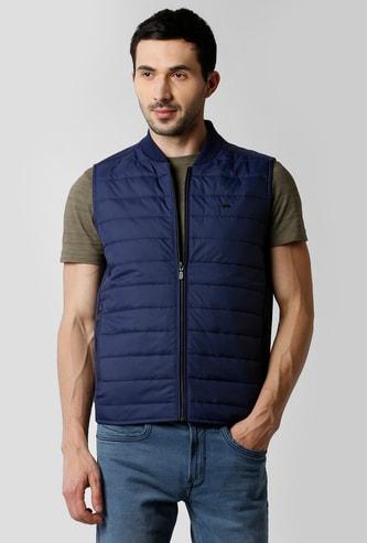 PETER ENGLAND Solid Sleeveless Puffer Jacket