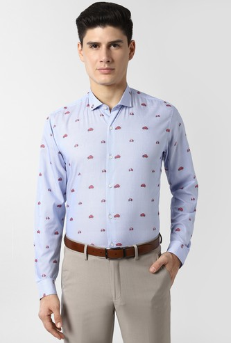 PETER ENGLAND Printed Nuvo Fit Formal Shirt