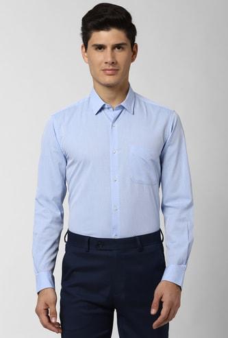 PETER ENGLAND Textured Slim Fit Formal Shirt