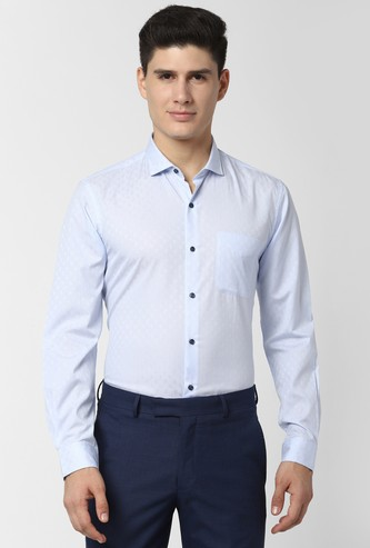 PETER ENGLAND Printed Full Sleeves Nuvo Fit Formal Shirt