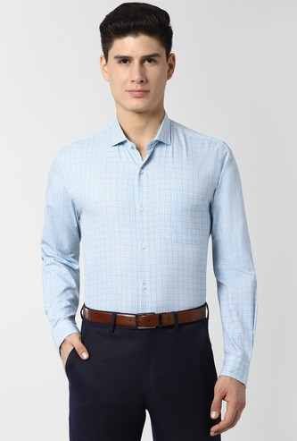 PETER ENGLAND Checked Full Sleeves Nuvo Fit Formal Shirt