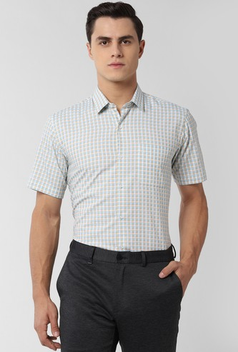 PETER ENGLAND Checked Nuvo Fit Formal Shirt