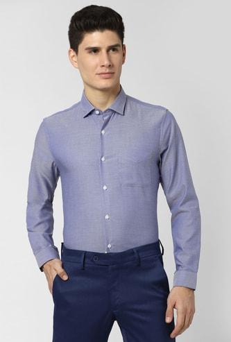 PETER ENGLAND Textured Full Sleeves Slim Fit Formal Shirt