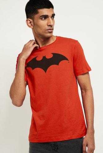 MAX Batmat Print Crew Neck T-shirt