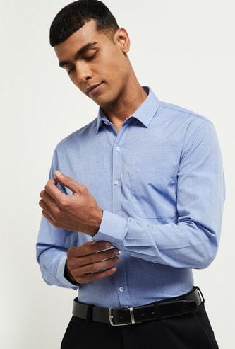 MAX Solid Full Sleeves Formal Shirt