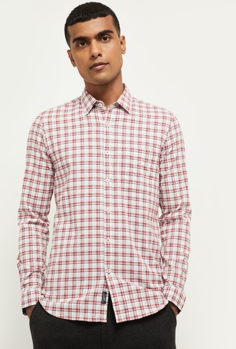 MAX Checked Full Sleeves Smart Casual Shirt