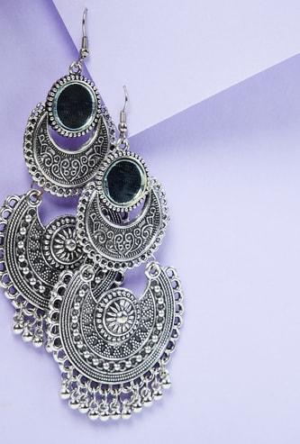 MAX Mirror Embellished Chandbali Earrings