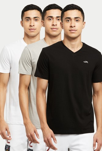 MAX Solid Crew Neck Lounge T-shirt- Pack of 3