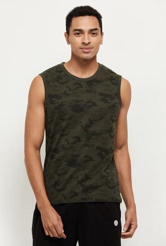 MAX Printed Sleeveless Lounge T-shirt