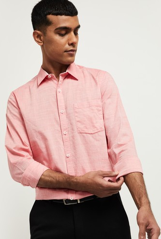 MAX Textured Full Sleeves Casual Shirt
