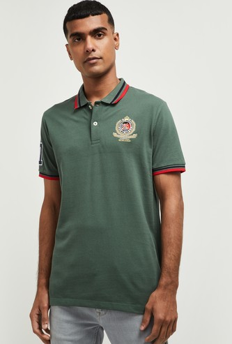 MAX Appliqued Regular Fit Polo T-shirt