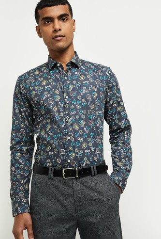MAX Printed Slim Fit Formal Shirt