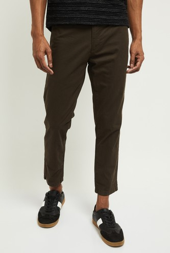 MAX Solid Skinny Cropped Chinos