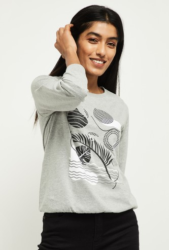 MAX Chest Print Full Sleeves Sweatshirt