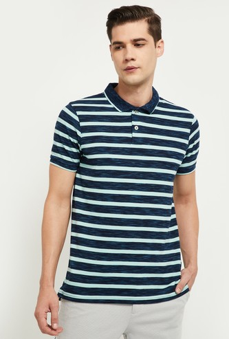 MAX Striped Regular Fit Polo T-shirt