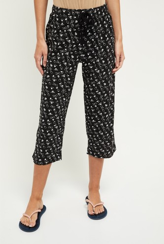 MAX Printed Elasticated Lounge Capris