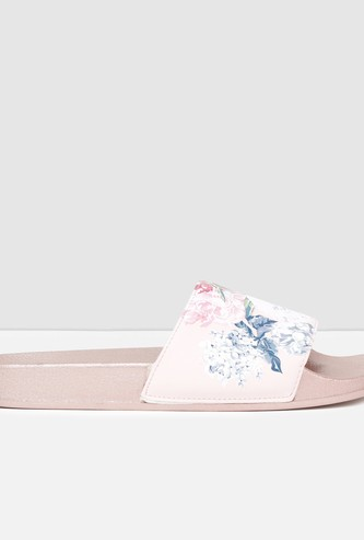 MAX Floral Print Sliders