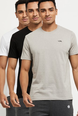MAX Solid Crew Neck Loungewear T-shirt - Pack of 3