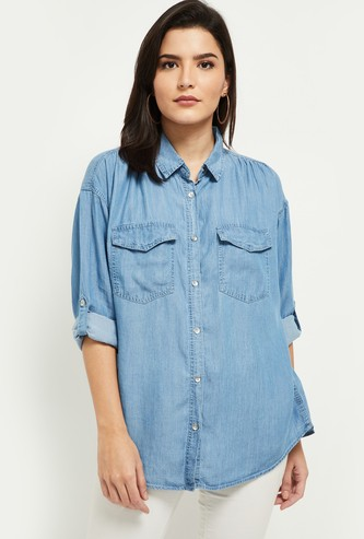 MAX Solid Denim Shirt
