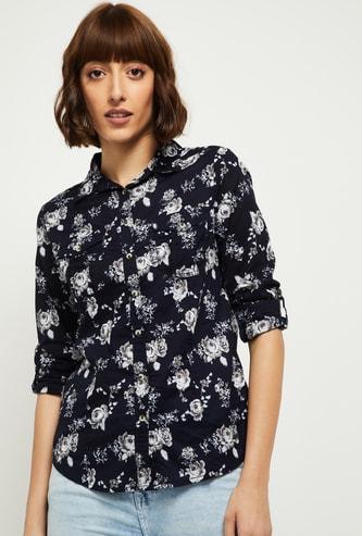 MAX Floral Printed Woven Shirt