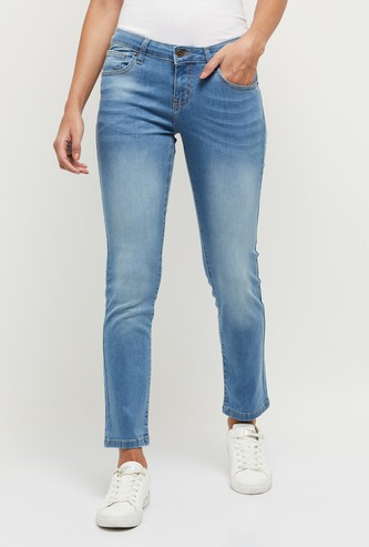 MAX Lightly Faded Slim Fit Jeans - Eco Wash