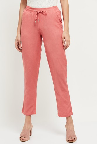 MAX Solid Woven Semi-Elasticated Trousers