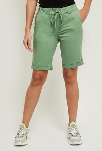 MAX Solid Shorts with Drawstring Closure