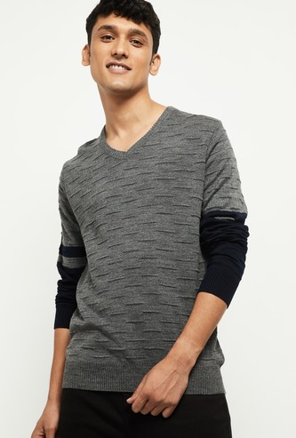 MAX Textured V-Neck Sweater