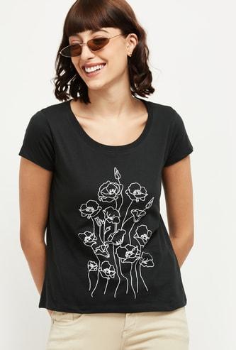 MAX Printed Cap Sleeves T-shirt