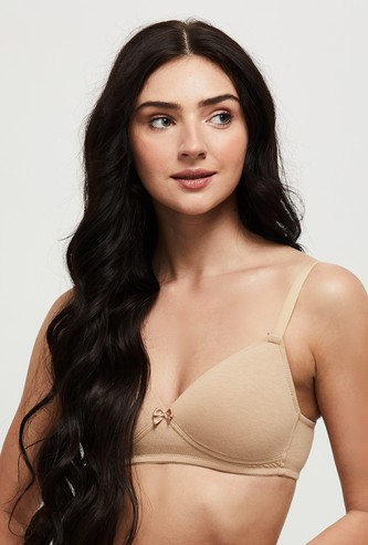 MAX Solid Padded Non Wired T-shirt Bra