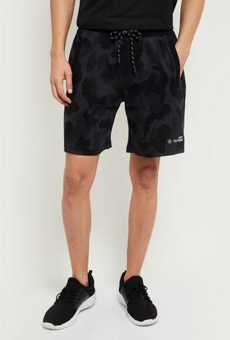 MAX Camouflage Print Drawstring Waist Shorts